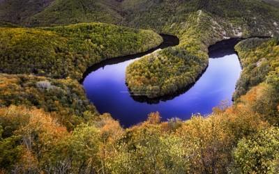 panorama méandre queuille automne