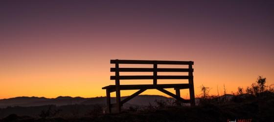 sunset in auvergne