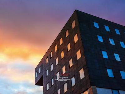 photo architecture sunset