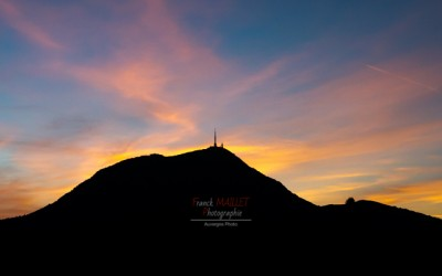 sunset puy de dome