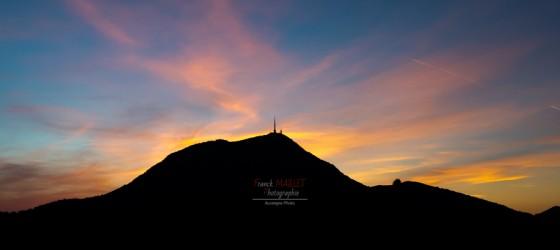 sunset puy de dome