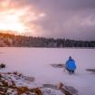 Sunset | Lac Servières | Neige | Photographe