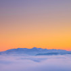 Douceur d'une mer de nuage au sunset