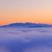 mer nuage coucher de soleil montagne