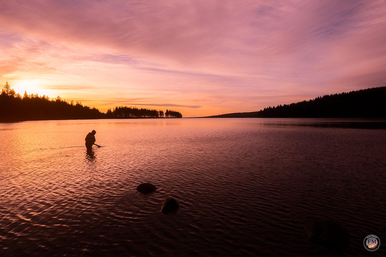 Le pêcheur du Servières au lever du soleil - © Franck MAILLET