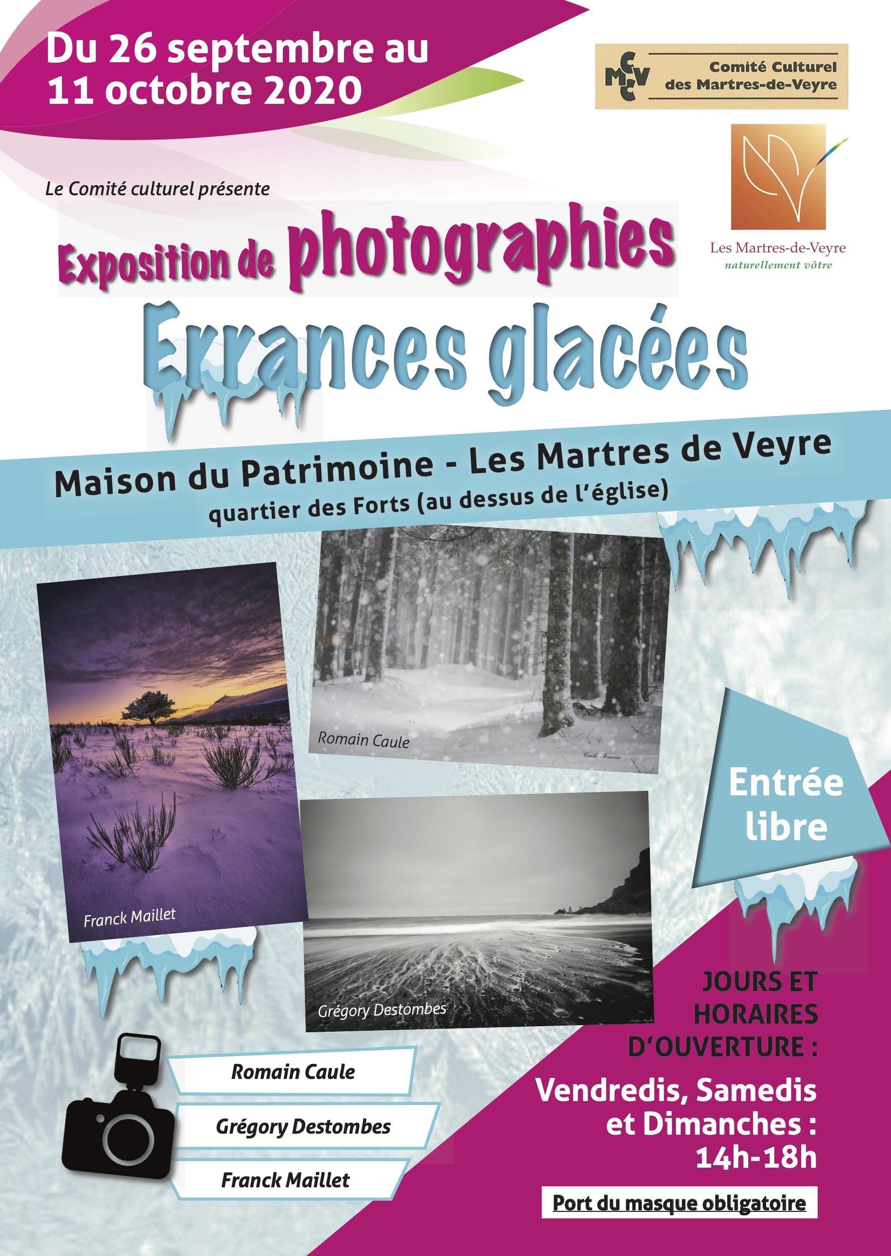 Affiche de l'Exposition Errances Glacées.